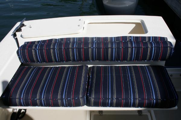 Transom fold down seat
