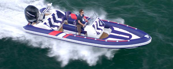 Cobra Ribs Nautique 7.6m View From Above