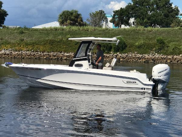 Boston Whaler 230 Outrage Profile View