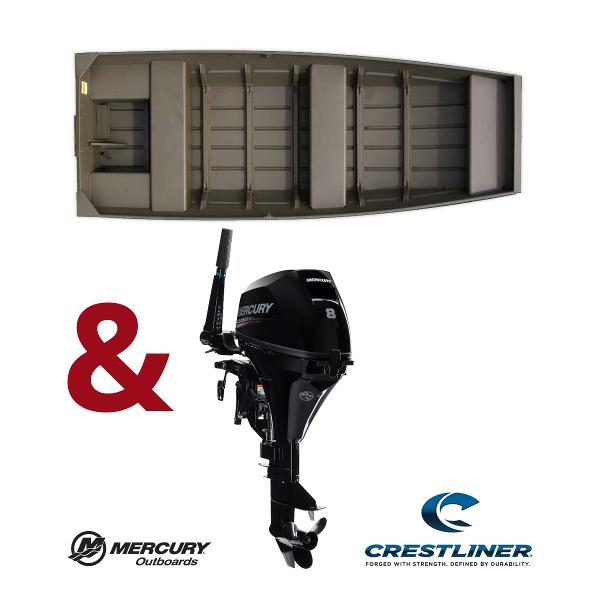 Crestliner Package: 1236 CR JON Boat - 8HP