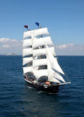 Custom Two-Masted Square-Rigged Brig Tall Ship Photo 1