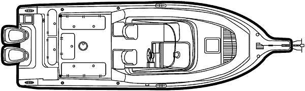 Century 2600 Walkaround Manufacturer Provided Image: 2600 - deck plan