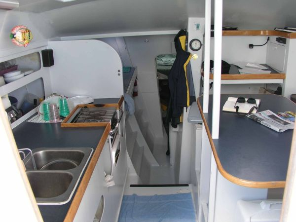 Galley view towards companionway