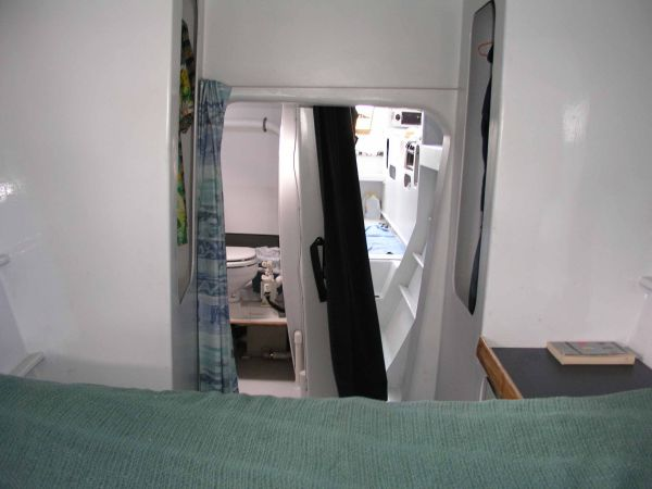 View from double berth towards galley