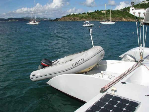 Tender launch position aft