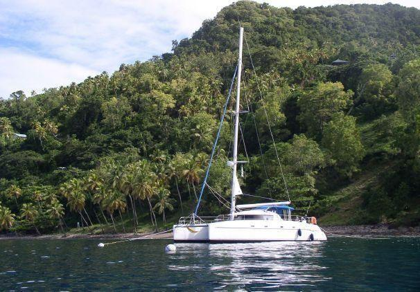 Fountaine Pajot Belize Maestro At mooring.jpg