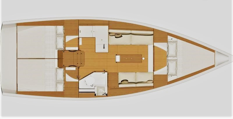 Dufour 360 Grand Large Dufour 360 Grand Large Layout