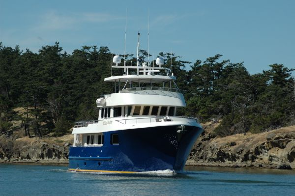 ALLSEAS YACHTS 92 Expedition Vessel Under Way