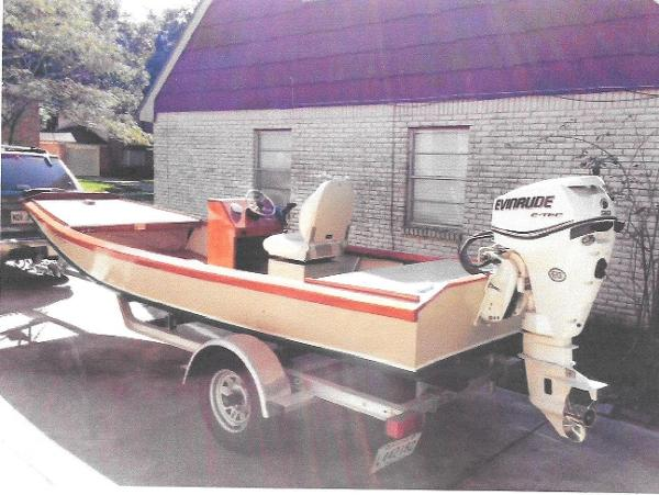 Custom Made WITH TRAILER WOODEN FLAT BOAT