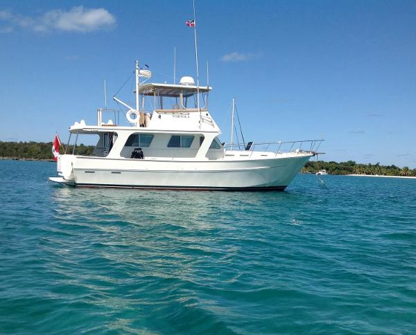 Bruce Roberts Custom Trawler At Anchor