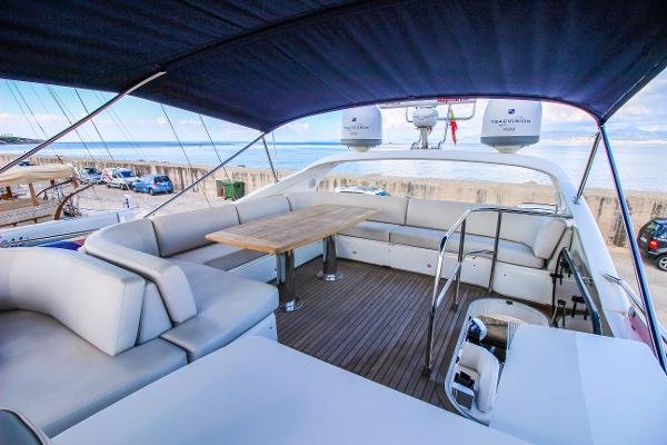 Princess 56 Flybridge Deck Looking Aft