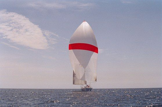 Flying the Spinnaker: Bow Shot