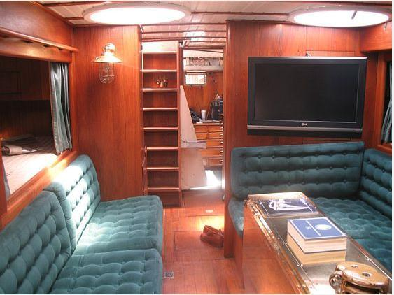 Saloon to Starboard Looking Aft to Owner's Stateroom