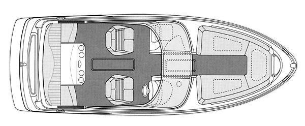 Manufacturer Provided Image: 2300SR - deck plan