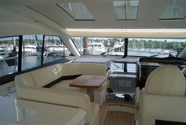 Princess V56 Helm Seating