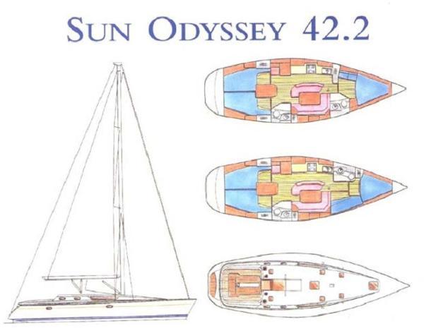 Jeanneau Sun Odyssey  42.2 SUN ODYSSEY 42.2 - ATOUT NAUTISME YACHT BROKER
