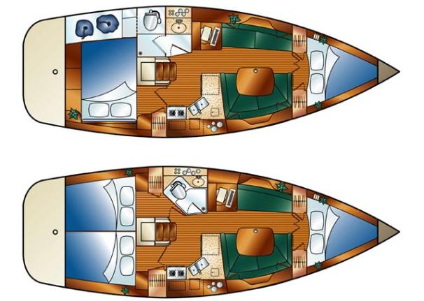 Manufacturer Provided Image: Standard and Optional Cabin Arrangement.