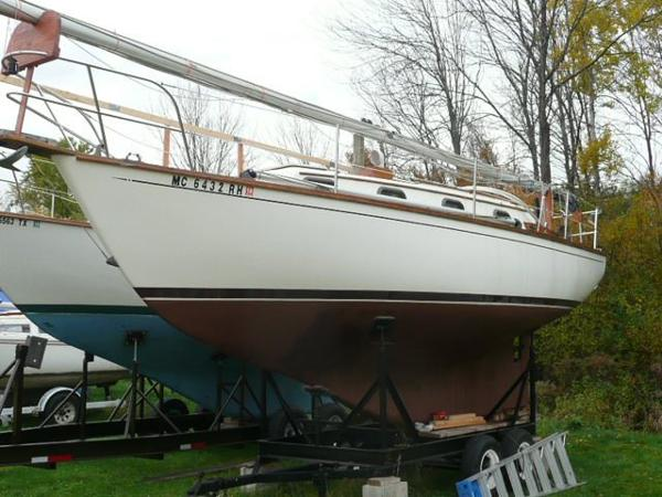 Cape Dory 28 On cradle