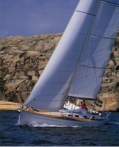 Sweden Yachts 45 Beating starboard tack