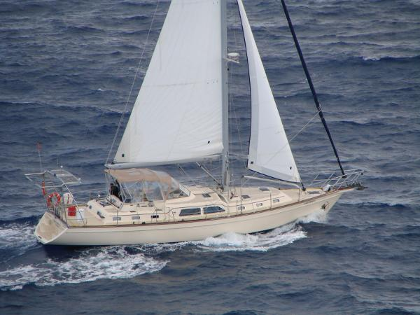 Island Packet 485 Artemis V Sailing the Pacific Ocean