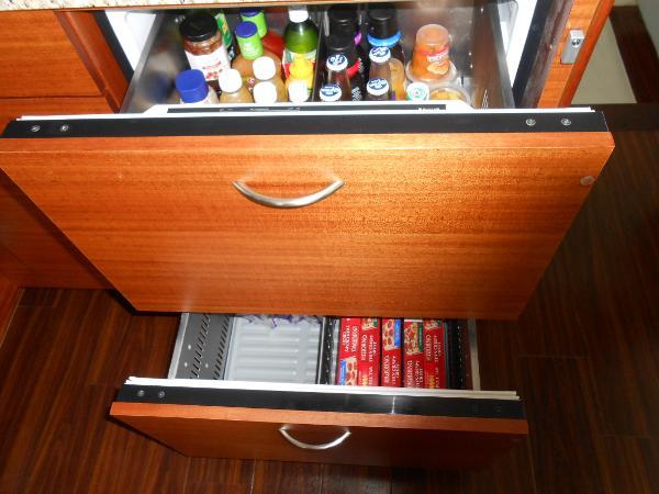 2nd set of fridge and freezer drawers