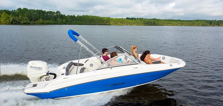 Stingray 191DC WINDSHIELD Deck Boat