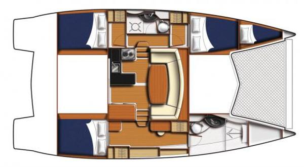 Leopard 39 PC 3 Cabin Layout Plan