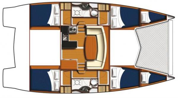Leopard 39 PC 4 Cabin Layout Plan