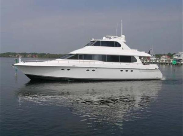 Lazzara 76 Motor Yacht Sky Lounge Profile