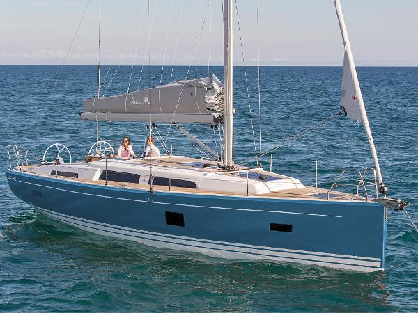 Hanse 388 Shown in Stars and Strips Blue