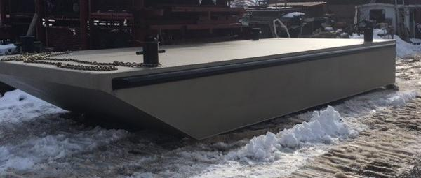 Commercial 24'6 x 10' Steel Work Barge