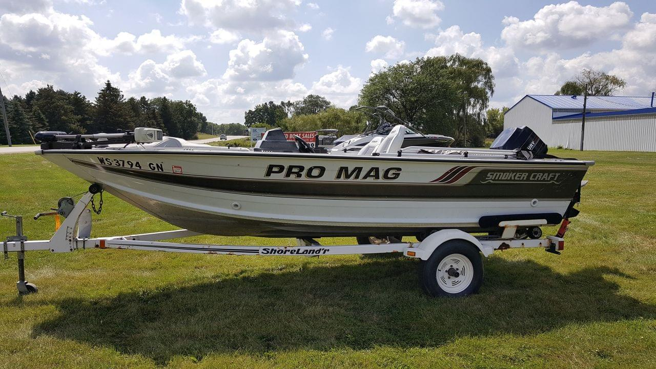 Used smoker craft freshwater fishing boats for sale for Smoker craft pro mag