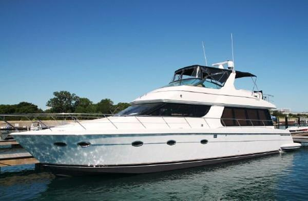 Carver 570 Voyager Pilothouse Outside Port Side