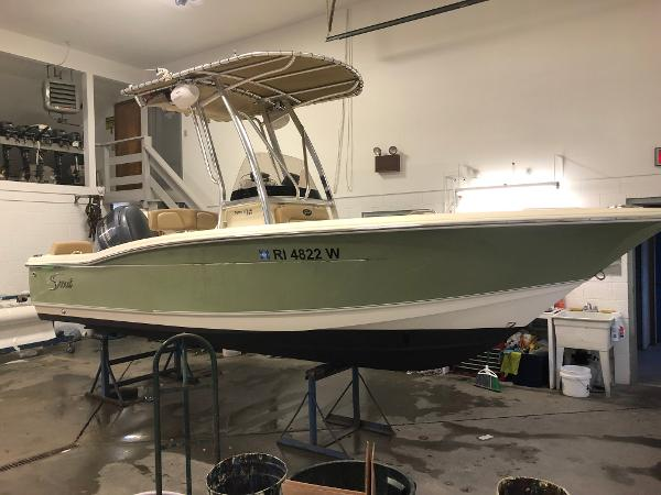 Scout 195 Sportfish Used Scout 195 XF Sportfish For Sale Four Stroke Outboard Power Ocean House Marina