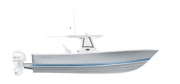 Regulator 34SS 2020 34SS - STORM GREY with Navy.White.Navy Boot Stripe