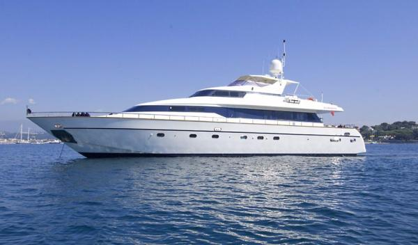 Mangusta 86 flybridge Side profile