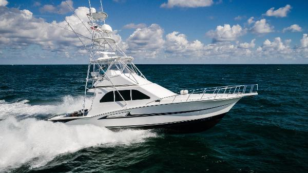 Cabo 47 Flybridge Running Profile Stbd