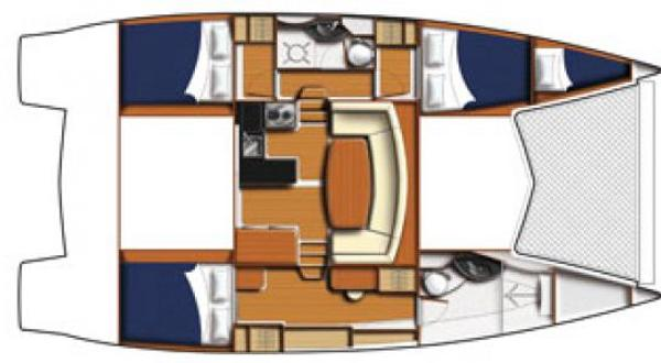Leopard 39 3 Cabin Layout Plan