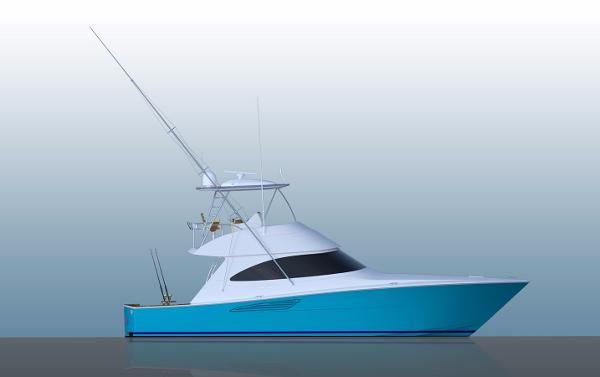 Viking 44 Convertible Starboard Profile