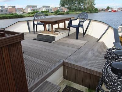 New wooden deck terrace