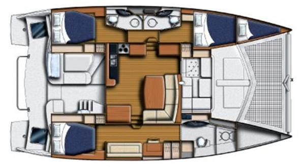 Leopard 44 3 Cabin Layout Plan