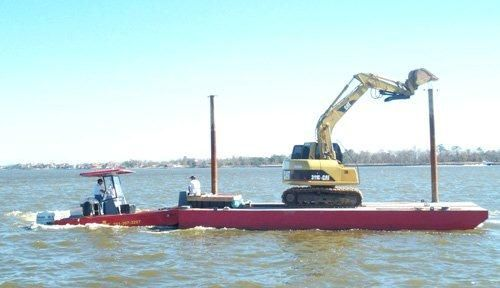 2012 40' x 20' x 4' Steel Sectional Barge with 20' x 8' x 3' Push Tug /To be built