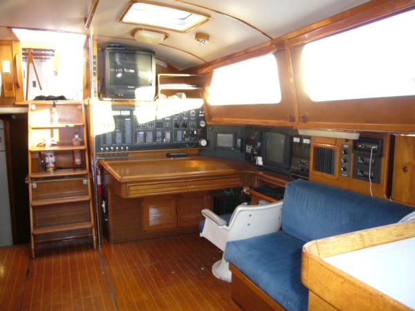 port side-facing aft