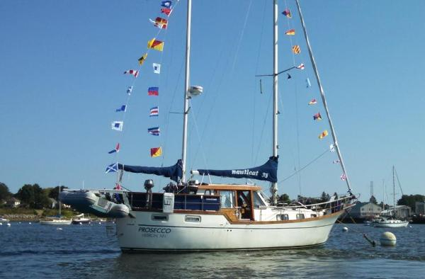 Nauticat Ketch Rigged Motorsailer On Her Mooring