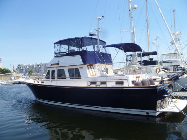 Sabreline 47 Aft Cabin At the Dock Spring of 2018
