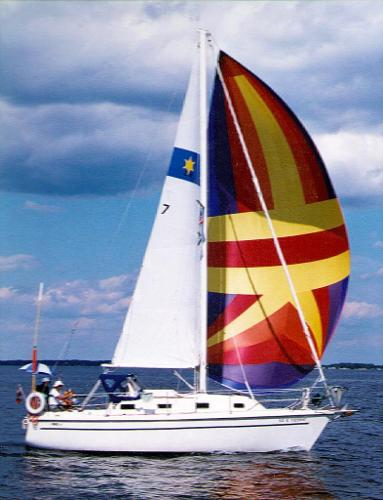 Sirius 28 Sloop Under Sail