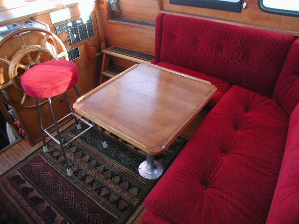 Pilothouse Settee with Table & Helm Stool