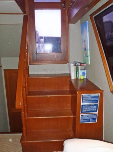 Stairway to Aft Deck