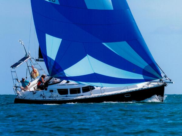 Jeanneau Sun Odyssey 40 DS Flying her Gennaker