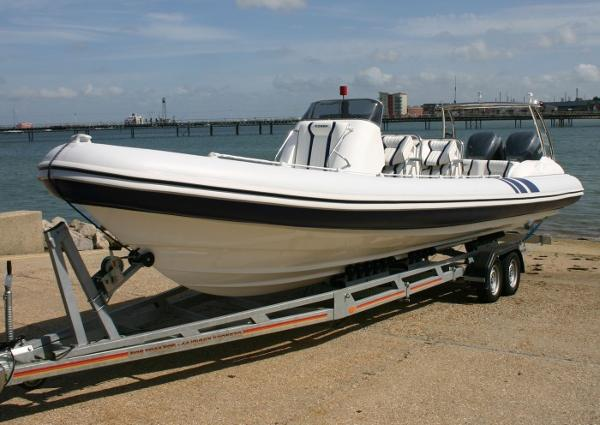 Cobra Ribs Nautique 9.6m On Trailer